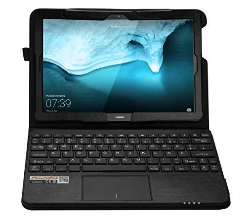 MQ für Huawei MediaPad T5 - Bluetooth Tastatur Tasche mit Multifunktions-Touchpad für Huawei MediaPad T5 10.1 LTE | Hülle mit Tastatur für Huawei MediaPad T5 10.1 WiFi | Tastatur deutsch QWERTZ