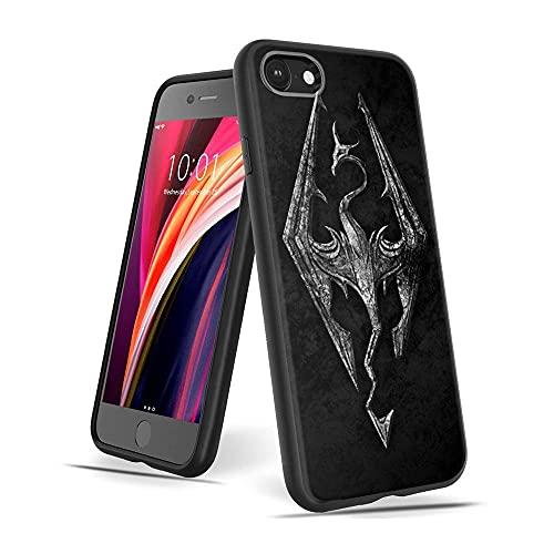 CBiBaMEi iPhone 7 Funda, iPhone 8 Funda, Negra Silicona con Dibujos Diseño Ultrafina y Ligero Suave Carcasa Gel TPU Goma Protectora Piel Cover para iPhone 7 / iPhone 8#C010