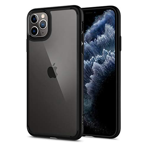 Spigen Ultra Hybrid Funda iPhone 11 Pro MAX, Compatible con Apple iPhone 11 Pro MAX (6.5') 2019 - Black