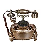 ZLBYB Teléfonos Retro creativos Resina Europea Marcación rotativa Decoración del teléfono Cafe Bar Ventana Decoración Decorativa for el hogar Accesorios