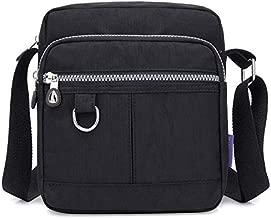 KARRESLY Casual Nylon Purse Handbag Crossbody Bag Waterproof Shoulder Bag for Women (Black)