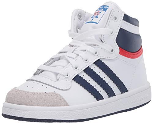 adidas Originals Baby Boys Top Ten Hi Sneaker, FTWR White/Dark Blue/Red, 9 Infant