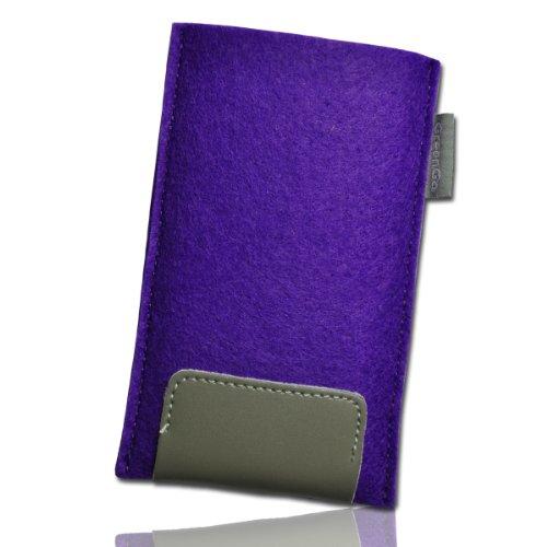 Handy Tasche Einschubtasche Etui Hülle Case lila / violett / grau W15 Gr.4 für Nokia Lumia 900 / Huawei Ascend D quad / Huawei Ascend D quad XL / Sony Xperia Ion / Huawei U9200 Ascend P1 / Samsung Galaxy S2 i9210 LTE / Samsung Galaxy Nexus / Base Lutea 2 - 2