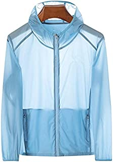 ZYFZD 2020 summer new men outdoor leisure quick-drying sunscreen clothing hooded clothes men thin coat (Color : Light Blue, Size : 6XL)