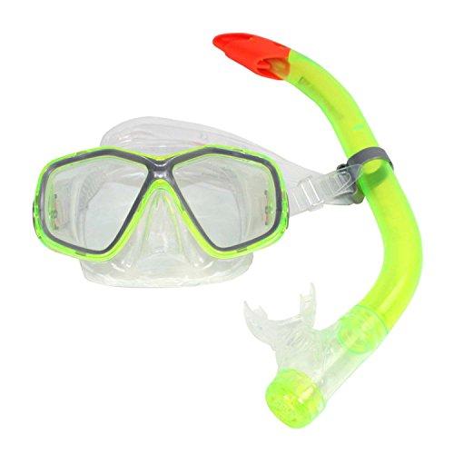 TOP Marques Collectibles Schnorchel-Set Tauchbrille + Schnorchel Dry Top Kinder Tauchset Neon-Gelb ~MP 108