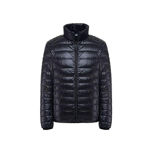 Winter Down Jacket Men White Duck Down Coat Ultralight Down Jacket Windproof Warm Parka 4XL 5XL 6XL Plus Size,Black,5XL