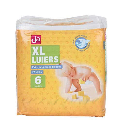 Omdat babyluiers maat 6 XL 6 x 27 Pack = 162 stuks