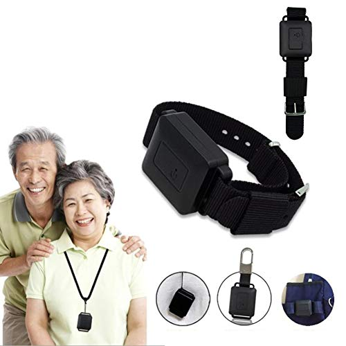 YJPQ GPS Tracker Wearable Positioning Bracelet for Elderly Kids USB Rechargeable Anti-Lost Tracking Device Real-Time Street View No Monthly Fee,Black