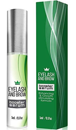 Natural Eyelash Growth Serum - Lash Booster & Eyebrow Enhancing Serum to Grow Thicker, Longer Lashes - USA-Made Eyelash Enhancer and Conditioner