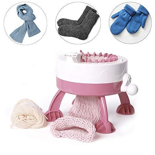 Máquina para hacer punto, 22 agujas Máquina de tejer Manual Telar automático Kit Niños DIY Máquina de coser para tejer bufandas tejidas sombreros tejidos calcetines tejidos