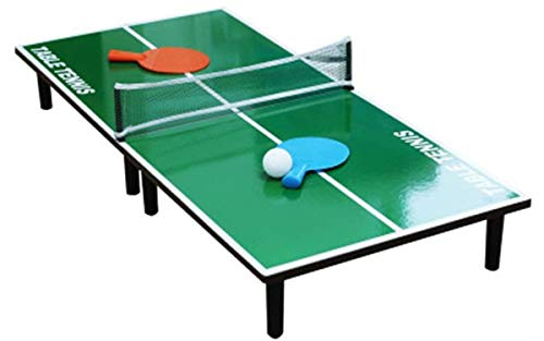YAOLAN Mini Tischtennisplatte, mit 1 Tischtennisnetz, 2 Bälle und 2 Tischtennisschläger, Einfachen Montage Tragbare Kinder Interaktives Lernspielzeug, für Home Party Spiele (90 * 40 * 6.5CM)