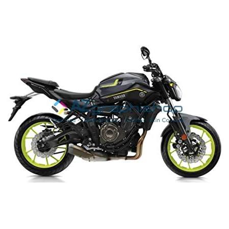 Aufkleber Seitlicher Tankschutz Yamaha Mt 07 2018 2019 Durchsichtig Auto