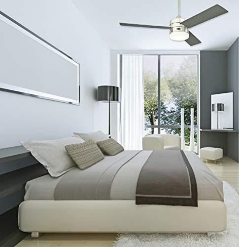 Deckenventilator aus modernem Edelstahl mit Lampe Bild 3*