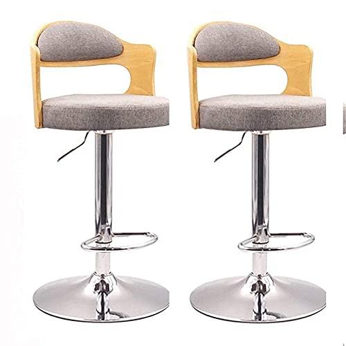 Set di 2 sgabelli daBar, Sgabello da Bar conRegolazione in Altezza della Cucina,Sedie da Bar da bancone industriali, Schienale in Legno Sgabello da Patio Sgabello da Pub (Colore : Sgabello Alto g