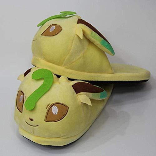 DINEGG Pokemon Biga Super Geng Ghost Halb-Tasche Baumwolle Schuhe Ibe Familie Capbie Kann Enten Tauchen Fisch Plüsch Hausschuhe Ye YE YIBU Sohle Länge 28cm erreichen YMMSTORY