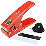 Elrido Guitar Pick Maker Tool DIY Guitar Pick Puncher - The Pics Cutter with 2 Pics Starter Strip Sheets, a Leather Key Chain Pick Holder, Guitar Pick Punch Kit Premium Pick Card Cutter