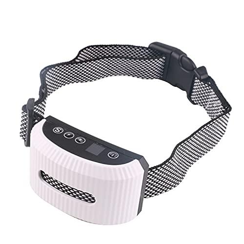 LPWCAWL Collar Recargable De Adiestramiento De Perros,Dispositivo Antiladridos para Perros,Collar Impermeable con Vibración Pitido Choque Estático,Alcance Remoto De 800m White