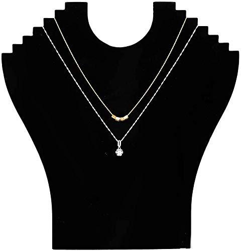 Collier en flanelle noire pendentif chaîne bijoux buste Mannequin support affichage modèle boutique bijoux présentoirs titulaire