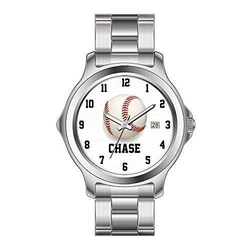 FDC Weihnachtsgeschenk-Uhren Damen Mode Japanische Quarz Datum Edelstahl Armband Uhr Baseball Custom Schwarz May28th Watch