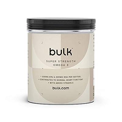 Bulk Extra Starke Omega 3 Weichkapseln, Fischöl, 1000 mg, 270 Kapseln, Verpackung Kann Variieren