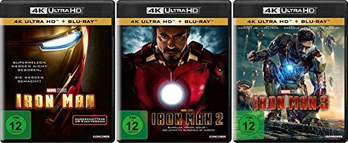 Iron Man Trilogie 1+2+3 im Set - 4K Ultra HD Blu-ray + Blu-ray (4K Ultra HD)