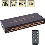 Best Hdmi Switchers - HDMI 2.0 switch 5x1 Awakelion Premium Quality 4K Review