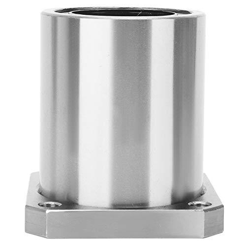 LMK50UU Buje de rodamiento de bolas de movimiento lineal con brida cuadrada, 50 mm de diámetro interior, 80 mm de diámetro exterior, 100 mm de espesor