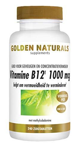 Golden Naturals Vitamine B12 1000 mcg (240 veganistische zuigtabletten)