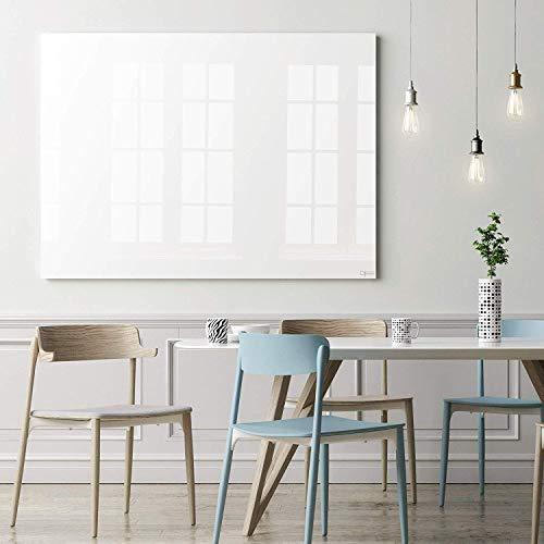 Glas-Whiteboard | Sicherheitsglas | Reinweiß | Rahmenlos | 8 Größen (120x150 cm)