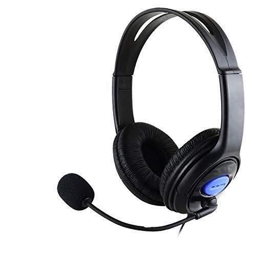 MZZYP Auriculares estéreo con cable para auriculares de juego, micrófono anti-ruido ajustable para PS4 X-ONE