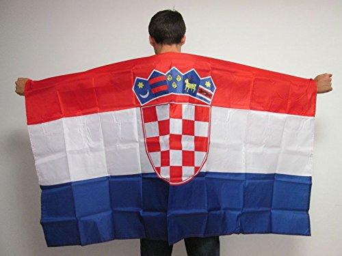 AZ FLAG UMHANGFLAGGE Kroatien 150x90cm - KROATISCHE Cape Fahne 90 x 150 cm - flaggen