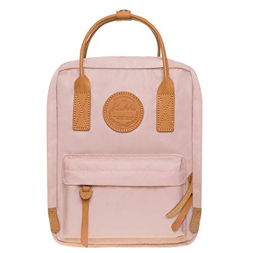KAUKKO Studenten Rucksack für Mädchen Jungen fit 8 Zoll Laptop 21 * 10 * 26 cm, 5.5 L (Rosa JNL-K1007-4)