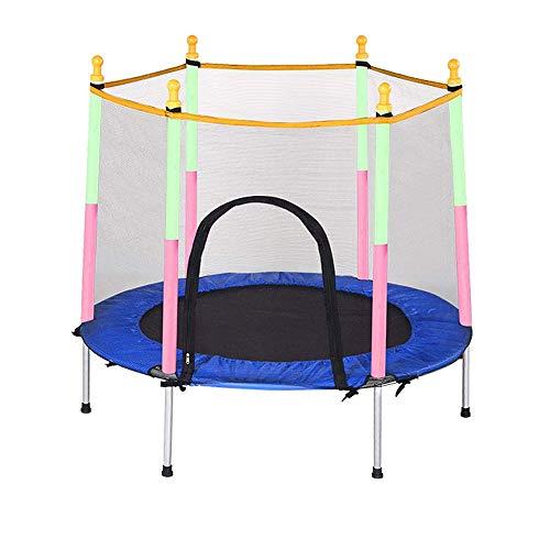 Trampolin Brincolin para Niños y adultos Trampolín de los niños, 59 pulgadas como máximo 150 kg de carga Trampolín Con -Indoor recinto de la seguridad o de trampolín al aire libre for los niños Regalo