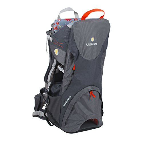LittleLife Baby Cross Country S4 Child Back Carrier, Grey, One Siz