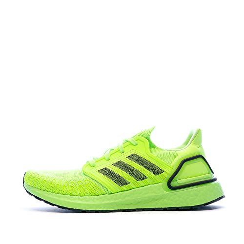 adidas Ultraboost 20, Men's Competition Running Shoes, SIGNAL GREEN/CORE BLACK/SIGNAL GREEN, 7.5 UK (41 1/3 EU)