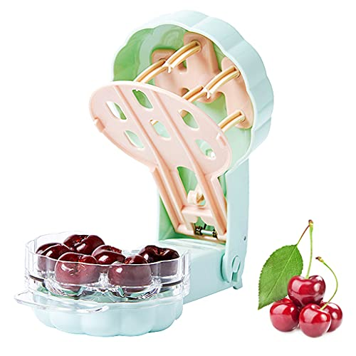 Aebor Cherry Pitter 6 Cherries seed remover Portable Cherry Core Remover Kitchen Gadget For Removing 6 Cherries At OnceLight green