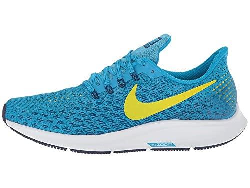 Nike Womens Air Zoom Pegasus 35 Running Shoes (12 B US, Blue Orbit/Bright Citron/Blue Void)