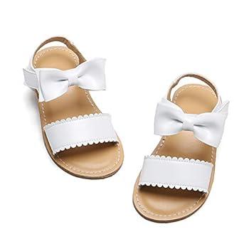 Girls White Sandals Size 8 Toddler Summer Holiday Wedding