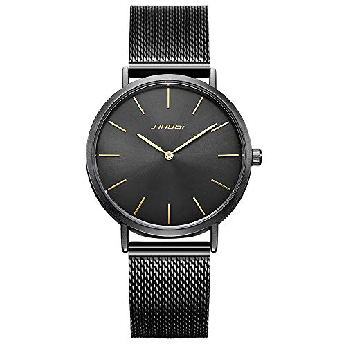 SINOBI Reloj de pulsera unisex para hombre, ultrafino,...