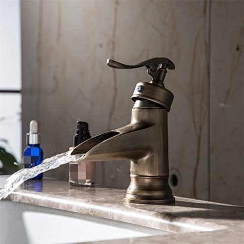 For Sale! Basin Taps European Style Brass Antique Short Drawing Basin Wash Basin Faucet hot and Col...