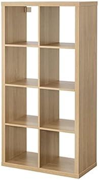 IKEA Kallax Mueble rectangular de 8 estantes, marrón, 77x147 cm