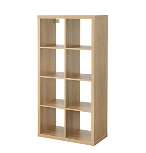 IKEA Kallax - Mueble rectangular de 8 estantes, color marrón