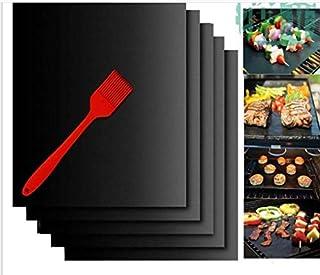 Tapis de cuisson anti-adhésif en téflon pour barbecue, facile à nettoyer, durable, résistant à la chaleur, pour griller la...