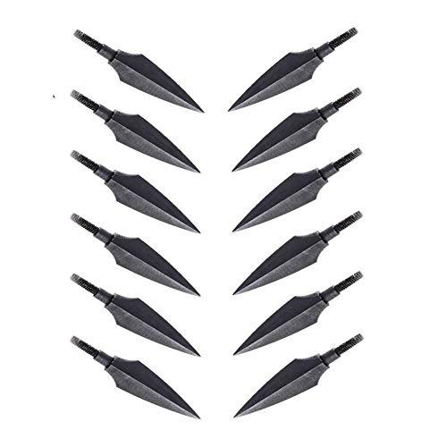 12er 150 Grains Pfeilspitzen Jagdspitzen Traditionelle Außen Jagd Pfeilspitze brünierte Armbrust Bogen brünierte Schraubspitze Bogensport