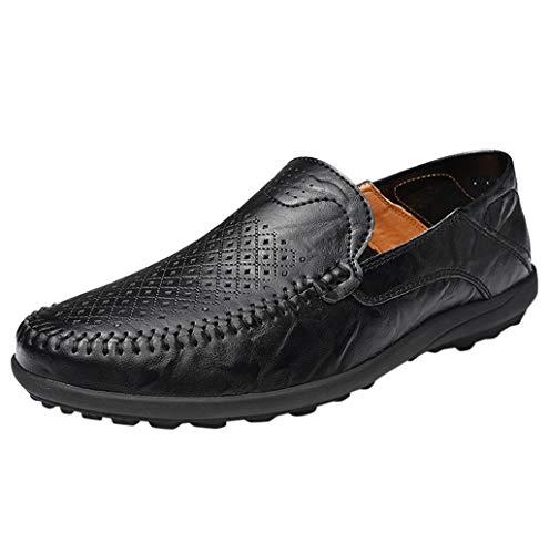 Herren Business Schuhe Mokkasins Slip on Casual Männer Loafers Frühling und Herbst Herren Slipper Halbschuhe Schuhe aus echtem Leder Herren Wohnungen Schuhe schwarz, Braun, Gelb TWBB