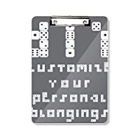 ふるい英語イラストパターン フラットヘッドフォルダーライティングパッドテストA4