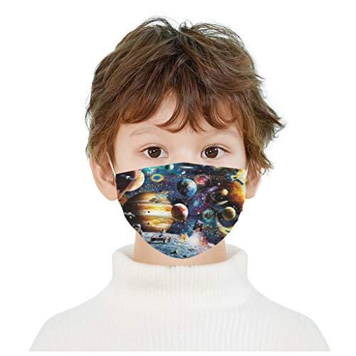 AWAKENLIAS 50 Pcs Mignonne Masque 3 Couches Filtre Enfants,Bandana Facial Impression Jetable,Non-tissé 3 Couches Super Confortable Imprimé Papillon Bandeaux pour Fille et Garçon (V)