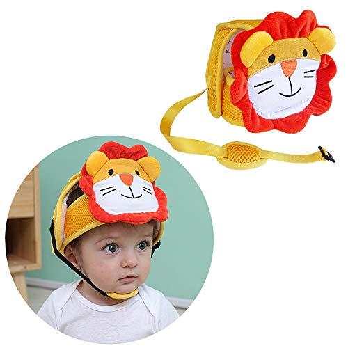 G-Tree Infantil Casco de Seguridad del Bebé del Casco, Infantil Protección Sombrero de Seguridad, Infantil Ajustable Protegecabezas la Cabeza del Niño Protector Transpirable Casco para Infantes, León