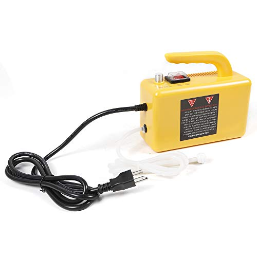 110V 2600W High Temperature High Pressure Portable Steam Cleaner Multi-Purpose Cleaning Handheld Steamer Machine Aluminum Alloy for Most Floors, Counters, Appliances, Windows, Autos, and More (Yellow)