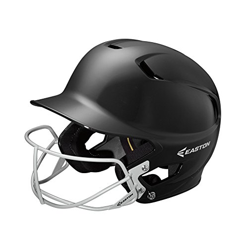 EASTON Z5 Batting Helmet with Softball Mask | Junior | Black | 2019 | Dual Density Impact Absorption Foam | High Impact Resistant ABS Shell | Moisture Wicking BioDRI liner